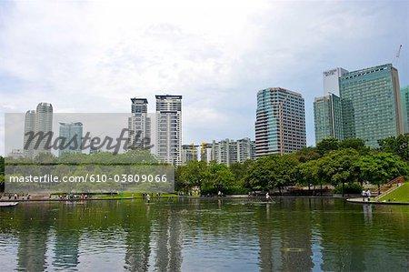 Parc de la Malaisie, Kuala Lumpur, près des tours Petronas