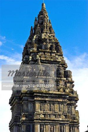 Java, en Indonésie, Yogyakarta, temple de Prambanan