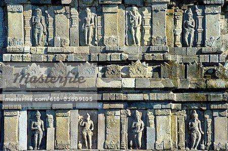 Indonesia, Java, Yogyakarta, Prambanan temple, statues