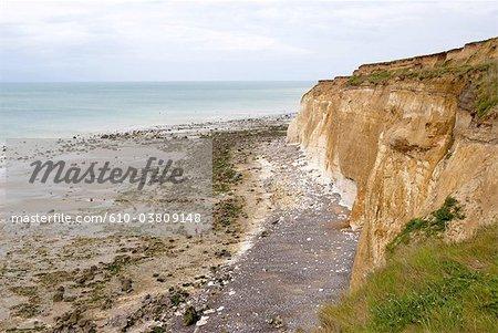 France, Normandie, entre Dieppe et Saint-Valery-en-Caux, falaises