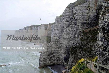France, les falaises de Normandie, Etretat,