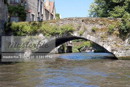 Belgium, Bruges, ancient bridge (Groenerei)