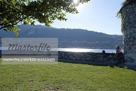 Italy, Piedmont, lake Orta, isola San Giulio