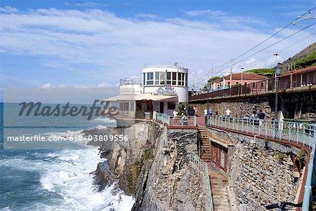 Italy, Liguria, Genoa, district of Nervi, seaside complex