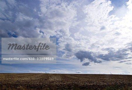 France, stormy sky