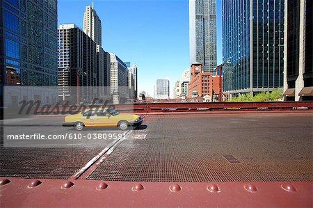 États-Unis, Illinois, Chicago, Chicago river bridge
