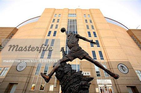 États-Unis, Illinois, Chicago, statue de Michael Jordan