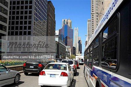 United States, Illinois, Chicago, traffic