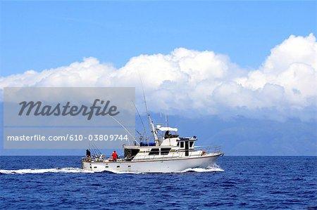 États-Unis, Hawaï, l'île de Maui, voilier