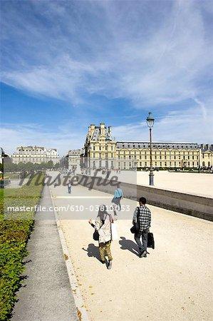 France, Paris (75), Ile de France, vers le Musée du Louvre