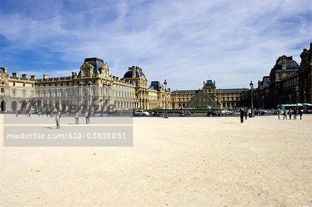 France, Paris (75), Ile de France, Musée du Louvre depuis le carrousel