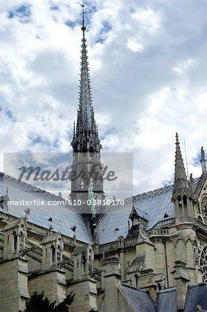 France, Paris, spire of Notre Dame