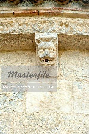 France, Poitou Charentes, Talmont sur Gironde, église de St Ragedonde