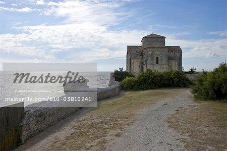 France, Poitou Charentes, Talmont sur Gironde, church of St Ragedonde