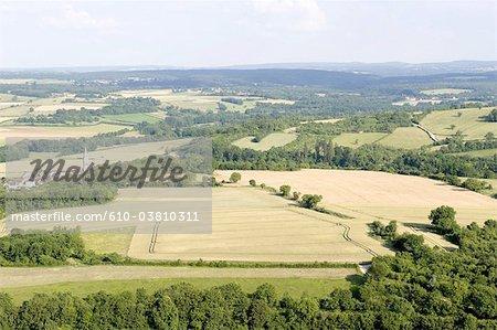Paysage de Morvan Bourgogne, France,