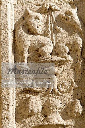 France, Bourgogne, Sens, sculpture