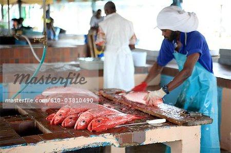 Poissons de la Barbade, Oistins,