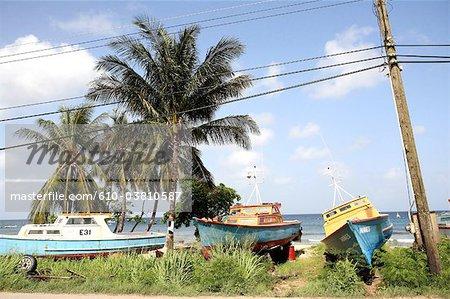 Barbados, sechs Männer Bay, Boote