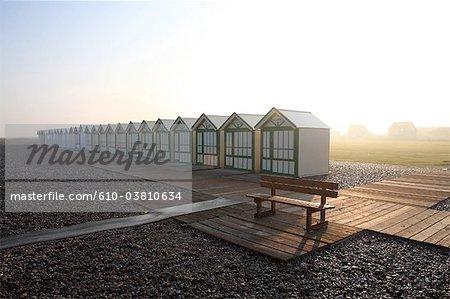 France, Picardie, Cayeux sur Mer, beach hut