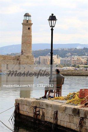 Grèce, Crète, Rethymnon, le port