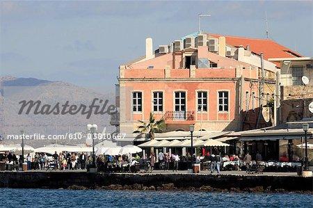Grèce, Crète, la Canée, le port