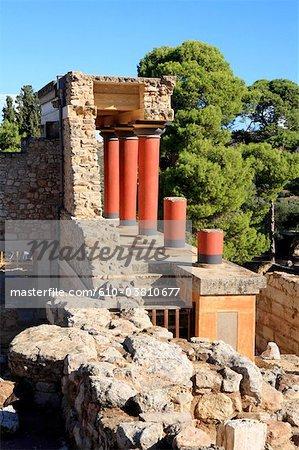 Grèce, Crète, Cnossos, site archéologique