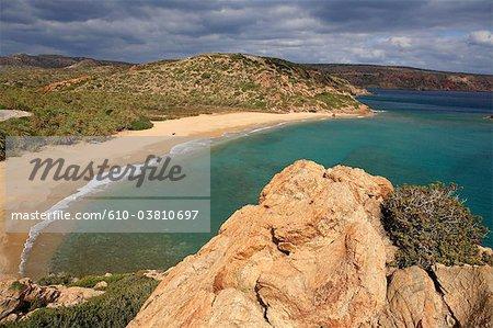Plage de Vai de Grèce, Crète,