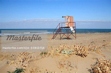 Grèce, Crète, Georgioupoli, station de sauvetage