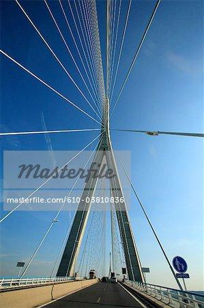 France, pont de Normandie entre Le Havre et Honfleur