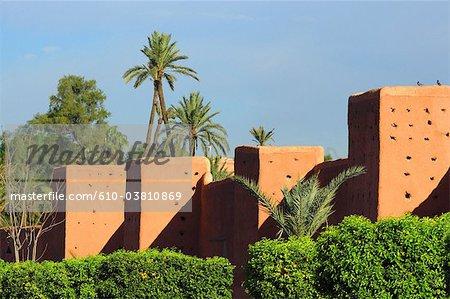 Maroc, Marrakech, remparts de la médina