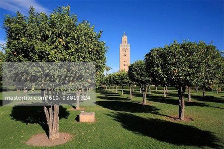 Morocco, Marrakech, Koutoubia mosque