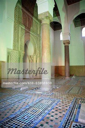 Morocco, Marrakech, saadian tombs