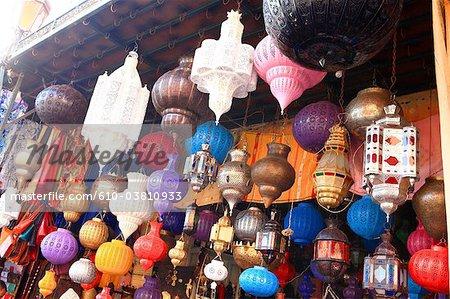 Souk Maroc, Marrakech, lanternes