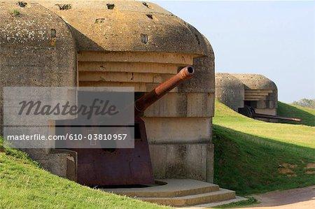 France, Normandy, Longues sur Mer, battery
