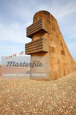 France, Normandy, Saint Laurent sur Mer, Omaha Beach, memorial