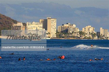 Aux États-Unis, Hawaï, l'île Oahu