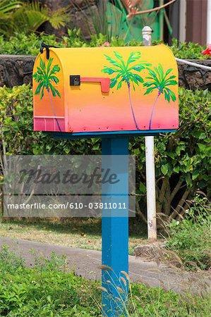 United States, Hawaii, Oahu island, letterbox