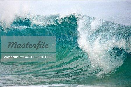 Plage de sable island, rive-nord, aux États-Unis, Hawaii, Oahu