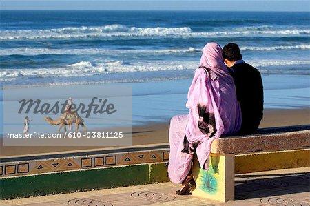 Maroc, Tiznit, Aglou plage, remblai