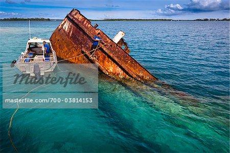 Snorkelling at the wreck of the M.V. Lata, Pangaimotu, Tongatapu, Kingdom of Tonga