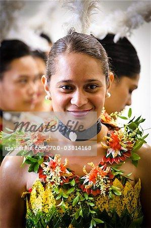 Traditional Tongan Dancers at Tonga National Cultural Centre, Nuku'alofa, Tongatapu, Kingdom of Tonga