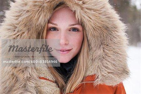Femme avec chien, Frisco, Summit County, Colorado, Etats-Unis