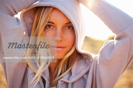 Femme, Bolinas, Marin County, Californie, Etats-Unis