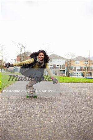 Frau Skateboard