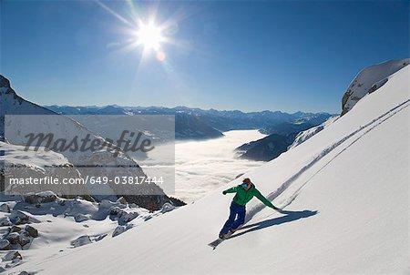 Snowboarder Kostenloses Reiten