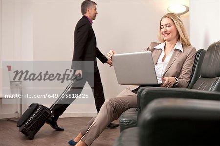 Geschäftsleute auf Geschäftsreise