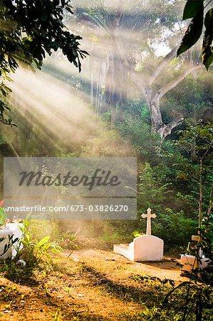 cimetière au Mexique
