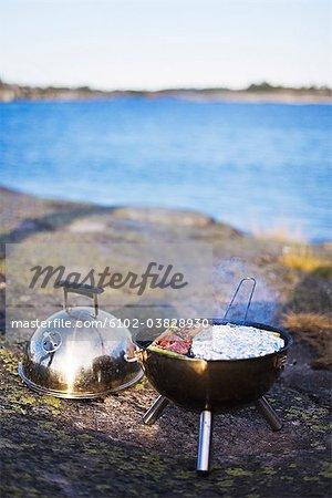 Barbecue, Stockholm archipelago, Sweden.