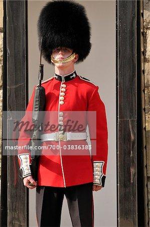 Londres, Buckingham Palace, la garde de la Reine