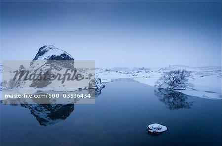 Myvatn in Winter, Northeast Region, Iceland